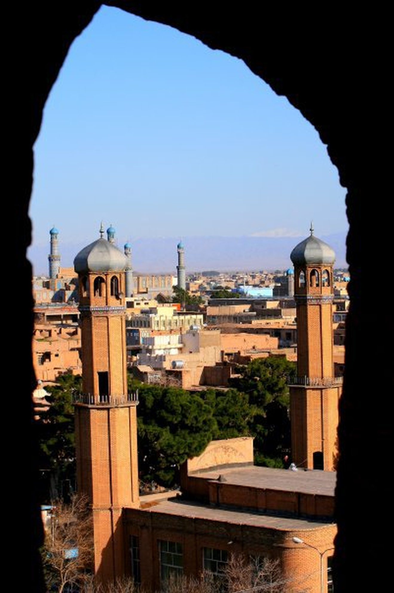 Mosques seen from the citadel in Herat. Photo: Tahir Bakhtiary