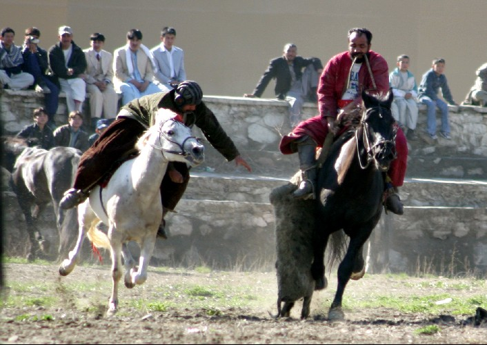 Buzkashi is still a popular sport in Afghanistan. Photo: Army Operational Command Denmark, 2005
