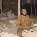 """""""I was lucky to find work as a carpenter. Now I can maintain my family. We still live in a tent, though. Buying a house in Kabul is expensive"""". Photo: Jens Kjær Jensen, 2003"""