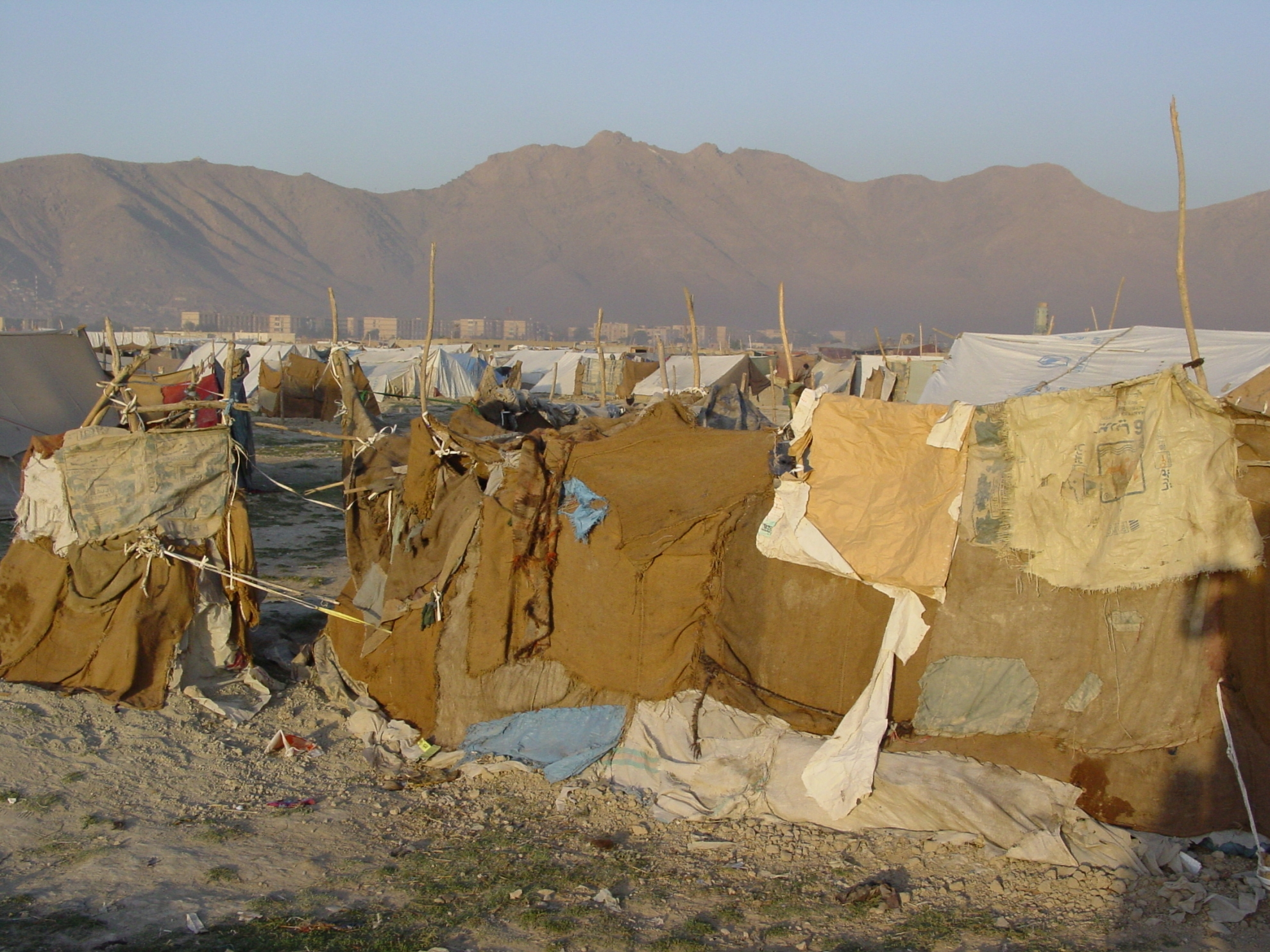 This is an informal refugee camp, meaning that the refugees are in fact squatters. Thus, the government may force them to leave the land. Photo: Jens Kjær Jensen, 2003