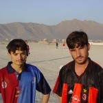 """""""We escaped from Helmand and have been in Kabul for roughly a year now. It's difficult to find work, but we play football to pass the time. That makes you forget your problems for a little while"""". Photo: Jens Kjær Jensen, 2003"""