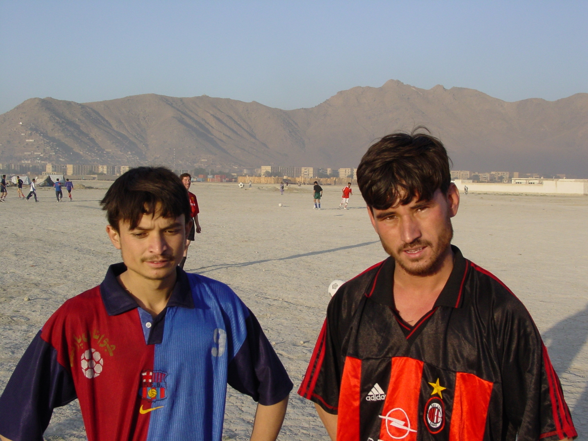 """We escaped from Helmand and have been in Kabul for roughly a year now. It's difficult to find work, but we play football to pass the time. That makes you forget your problems for a little while"". Photo: Jens Kjær Jensen, 2003"