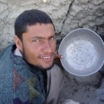 Abdul lost his wife some years ago and is now alone with two children. That means he has to cook, which is a challenge as he has never learned how. It is usually the women who cook in Afghanistan. Photo: Jens Kjær Jensen, 2003