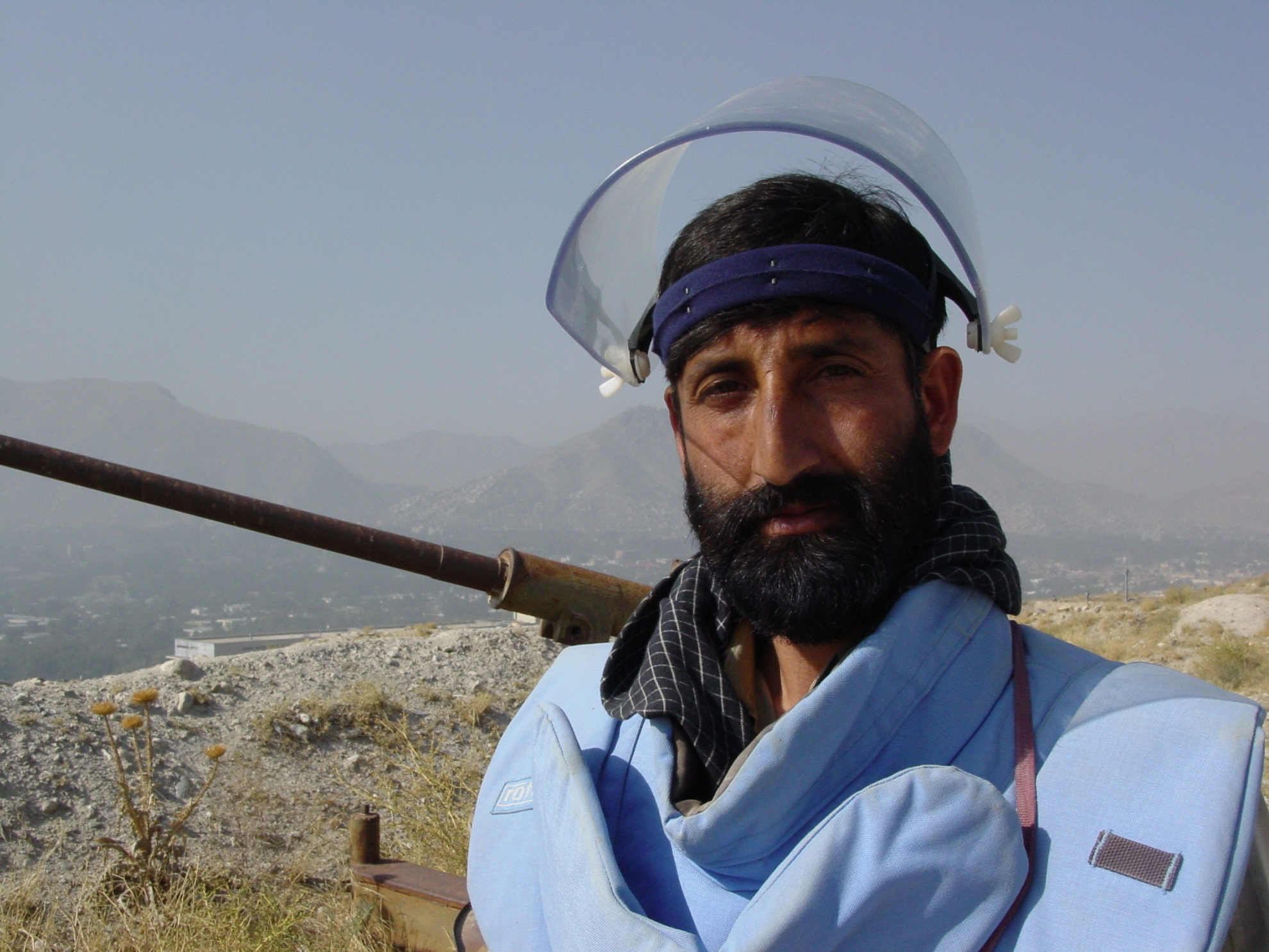 """""""Every time I clear a mine, I might rescue a child from being wounded or killed"""", says Hamid. Photo: Jens Kjær Jensen, 2003"""