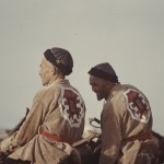 Two Turkmen riders. Photo: Jean Bourgeois, 1969