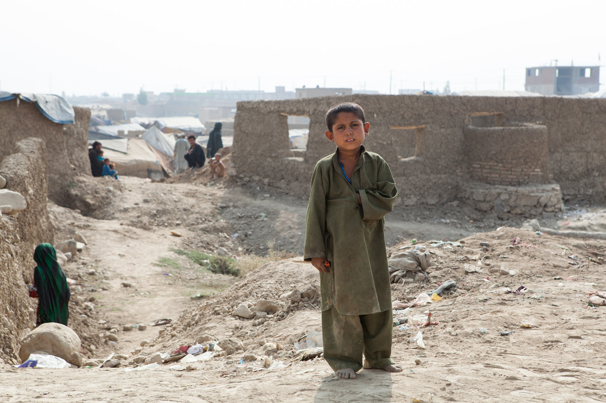 Boy in a refugee camp on the outskirts of Kabul. Poto: Danish Refugee Council/Erick Gerstner