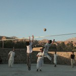 Volleyball is popular among young men in Afghanistan. Photo: Tahir Bakhtiary, 2013
