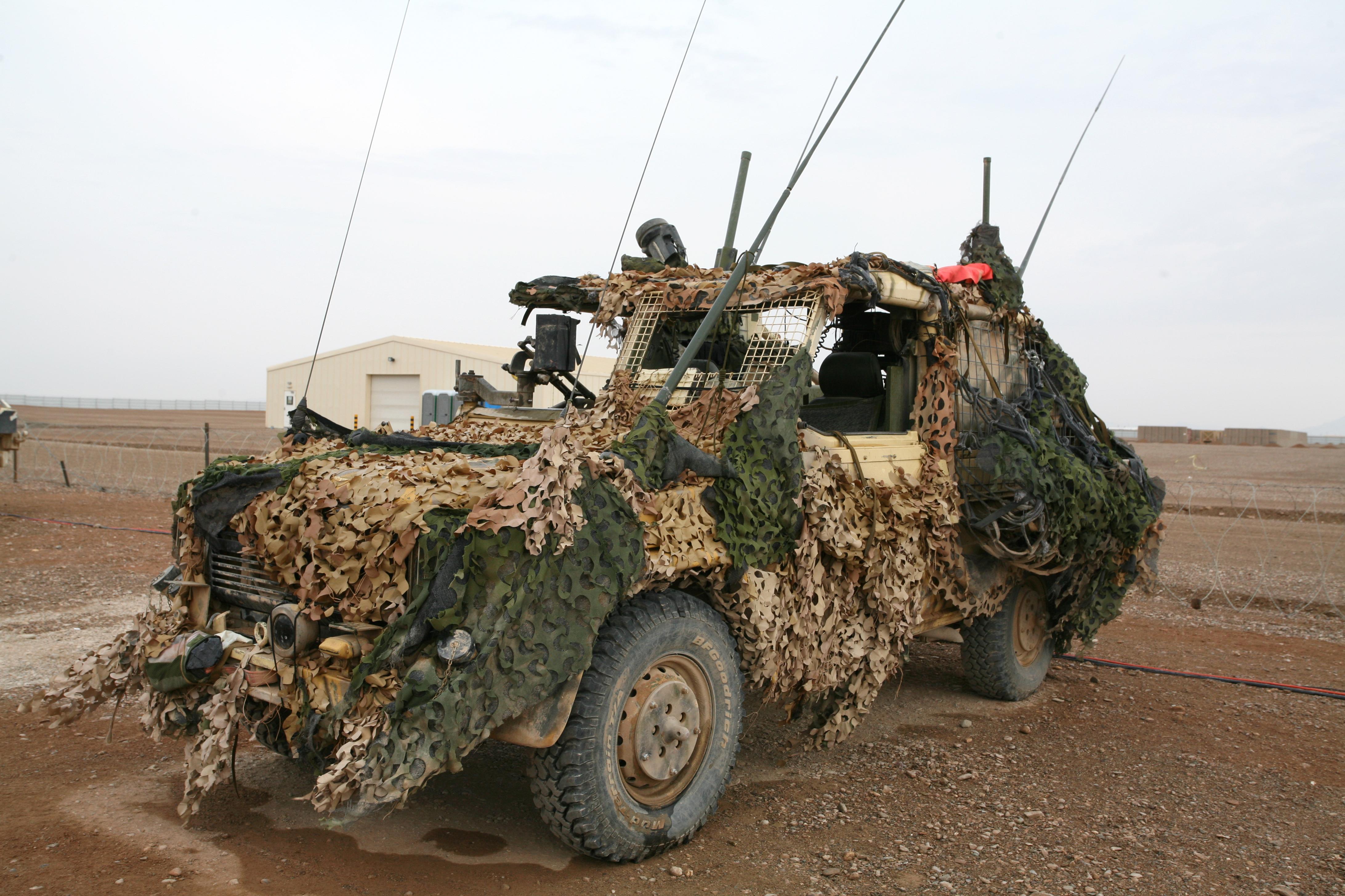A vehicle ready for patrol. Photo: HOK/Per A. Rasmussen, 2008