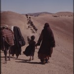 This nomadic tribe travelled approximately 500 kilometers every spring, from the Pakistani lowlands to the Afghan highlands. Photo: Jean Bourgeois, 1971