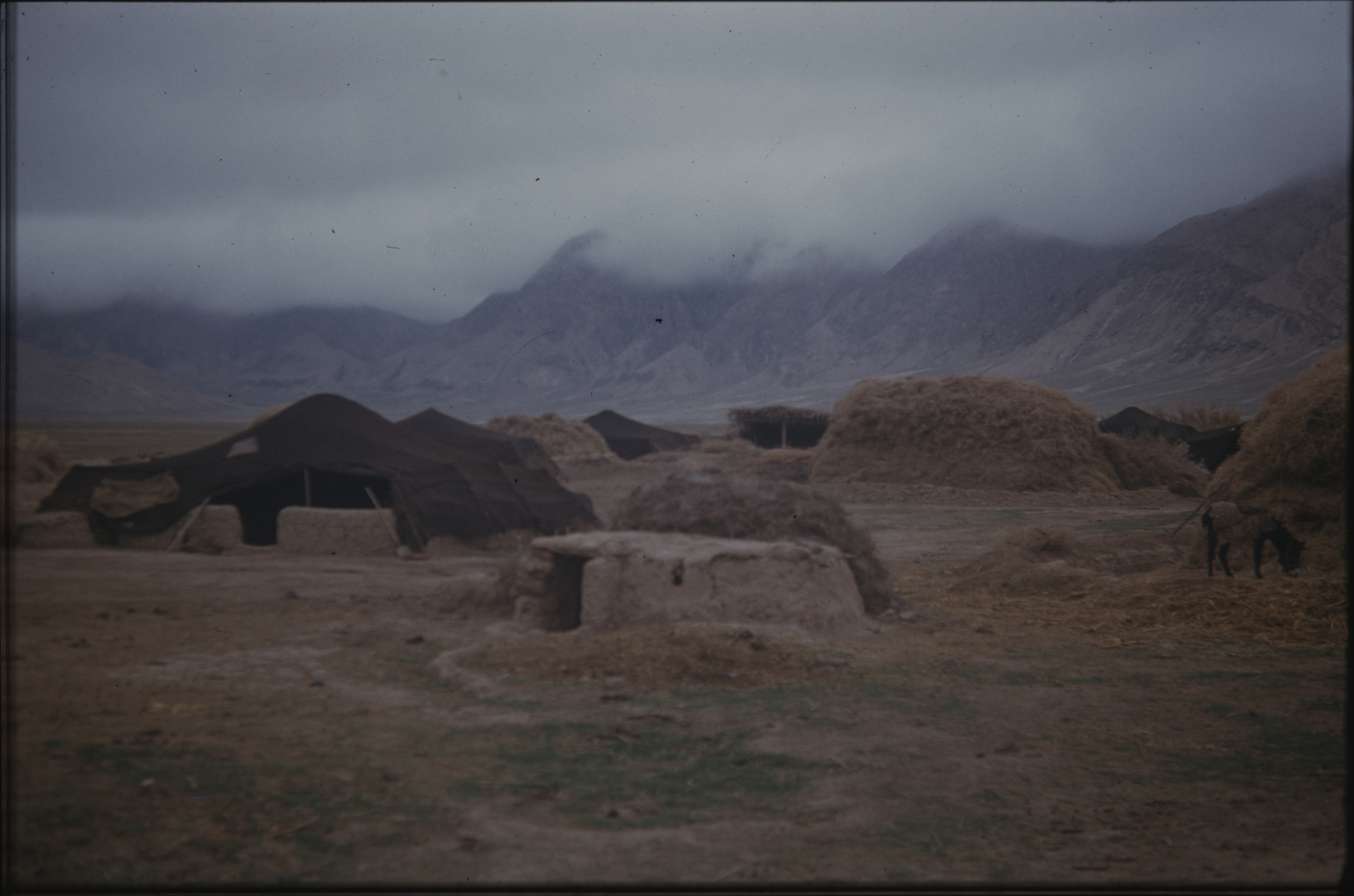 Klaus Ferdinand studied the black goat hair tents of the nomads in great detail. The Henning Haslund-Christensen Memorial Expedition, 1953-'55. Photo: the Moesgaard Museum archives