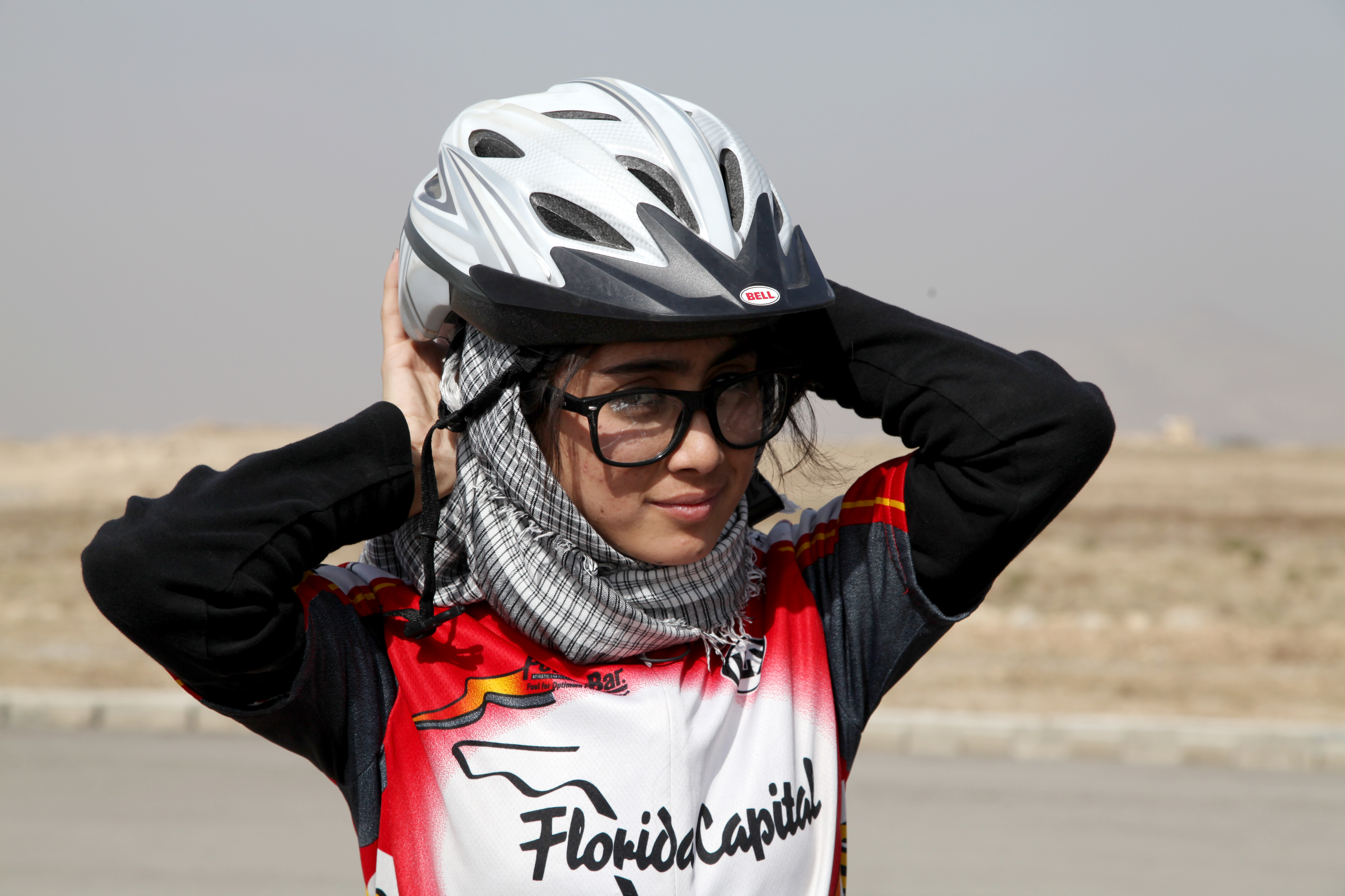 A member of the Afghan National Women's Cycling Team. Photo: Mountain2Mountain/Mariam Alimi