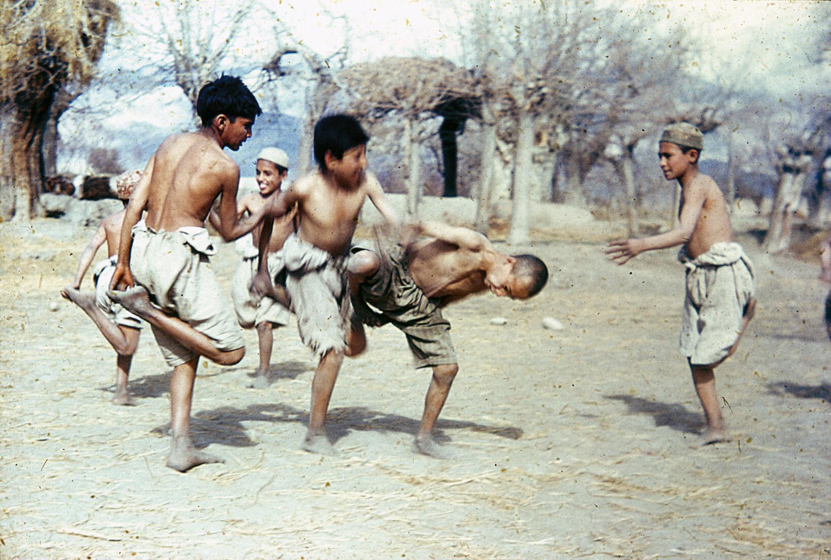 Afghanerbrydning er populært i Afghanistan. Foto: Klaus Ferdinand, 1955