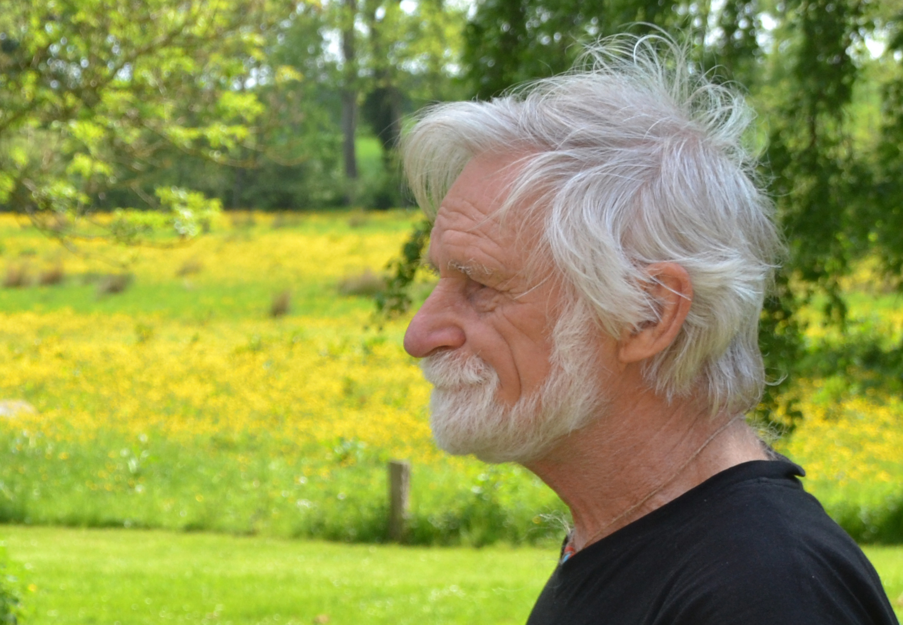 Jean Bourgeois in the park at Moesgaard Museum. Photo: Hanne Christensen, 2013