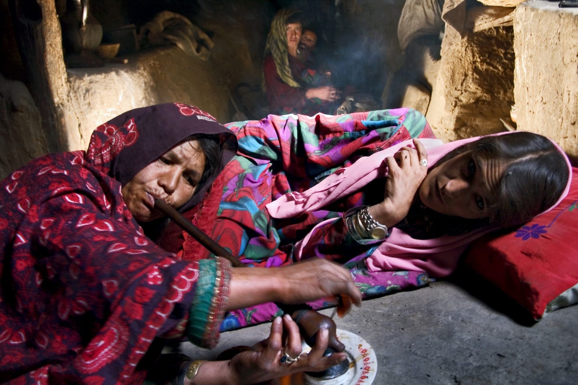 The dramatic increase in Afghan drug abuse is followed by great social and economic problems for both individual users and society at large. It affects the workforce, increases the number of domestic and traffic accidents, leads to crime, increases the spread of diseases such as AIDS and hepatitis and causes mental disorders and accidental deaths. Photo: UN Photo/UNODC/Zalmai, 2005