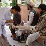 International Red Cross has several clinics in Afghanistan. Besides getting artificial limbs, the disabled people may be offered assistance in finding a job or getting an education. Photo: Jens Kjær Jensen, 2003