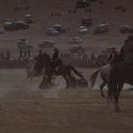 Horses as well as players are in danger during the match. Photo: Jean Bourgeois, 1969