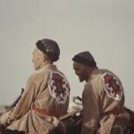 Two Turkmen riders. Photo: Jean Bourgeois, 1969