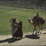 A family from the Jalalkhel tribe trekking through Hazarajat. Photo: Jean Bourgeois, 1968