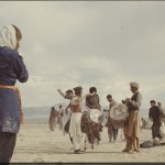Daniella photographing dancing nomads. Photo: Jean Bourgeois, 1969