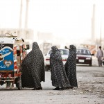 Not everyone swears to the conventional blue burqa. Photo: Lars Schmidt, 2010-'13